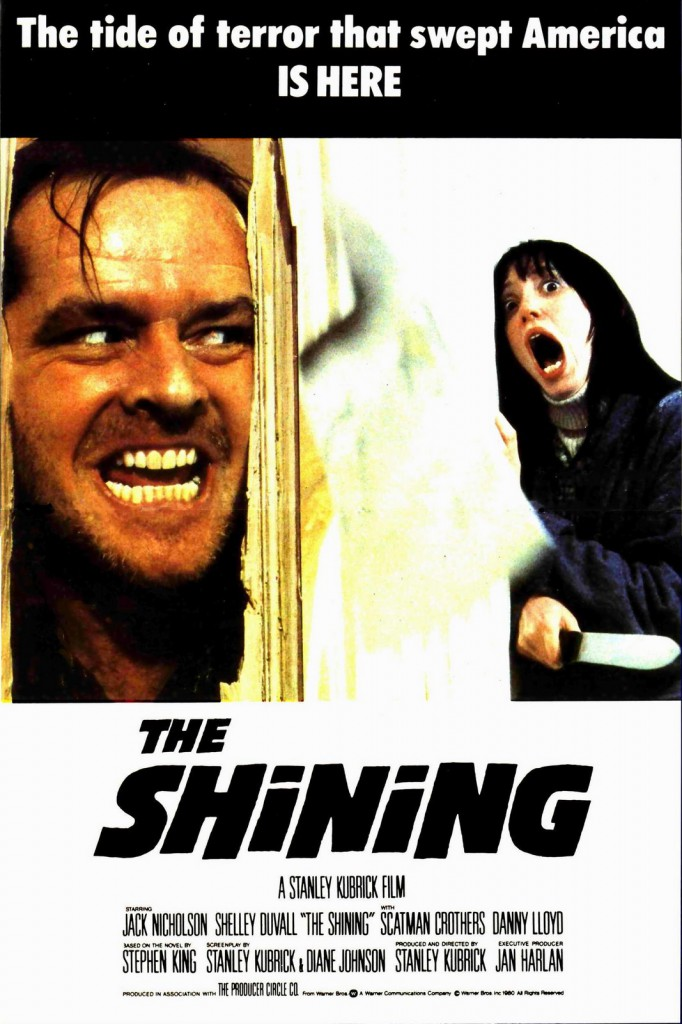 the shining poster 682x1024 - Favorite Horror Movies Revealed: Victor Love of Dope Stars Inc.
