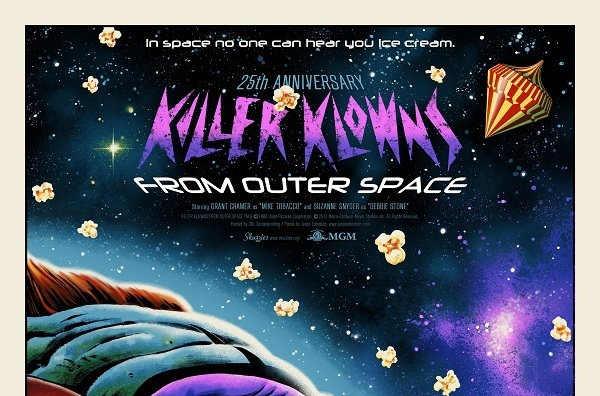 Killer Klowns from Outer Space Regular movie inside the rock poster frame - CrypticRock presents this week in horror movie history: 25th anniversary of Killer Klowns From Outer Space