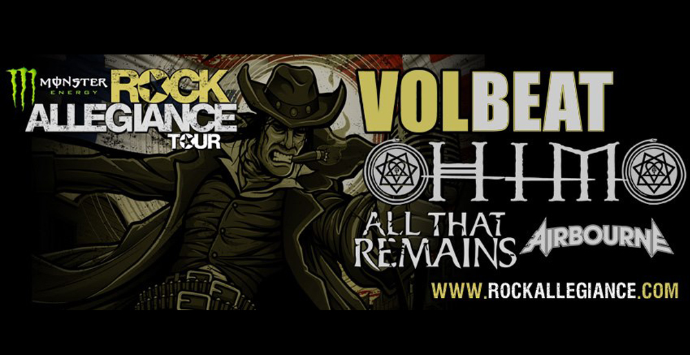 Rock Allegiance Tour 2013 - Rock Allegiance tour 2013 line-up and dates have been announced.