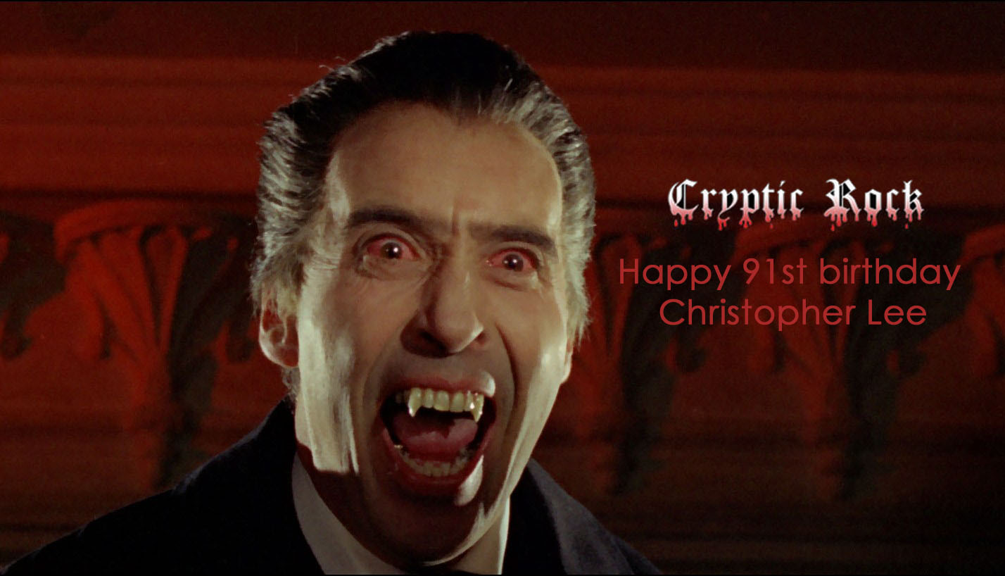 lee cover - Cryptic Rock wishes Christopher Lee a happy 91st birthday