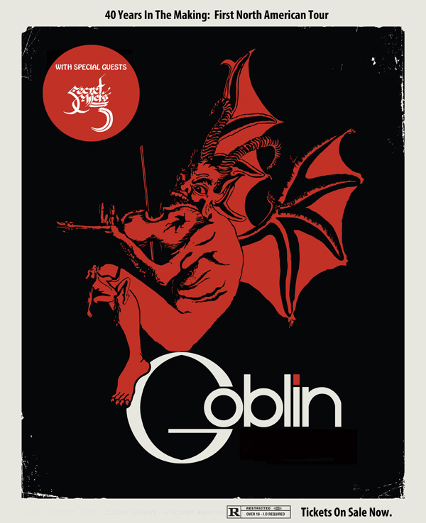 goblin tour poster - Italian band Goblin to embark on North American tour