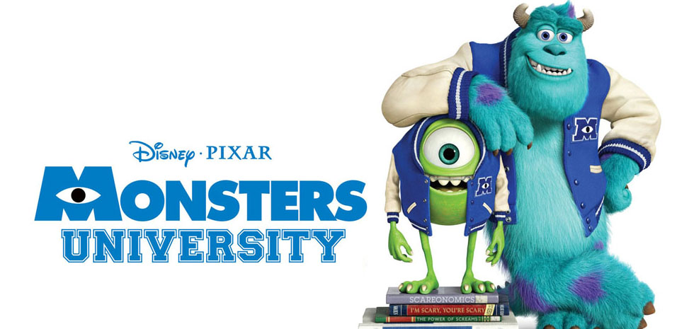 Monsters University banner edited 4 - Monsters University (Movie review)