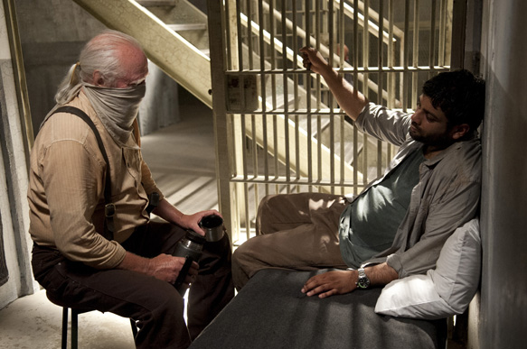 Hershel Greene (Scott Wilson) and Dr. Subramanian (Sunkrish Bala) - The Walking Dead _ Season 4, Episode 3 - Photo Credit: Gene Page/AMC