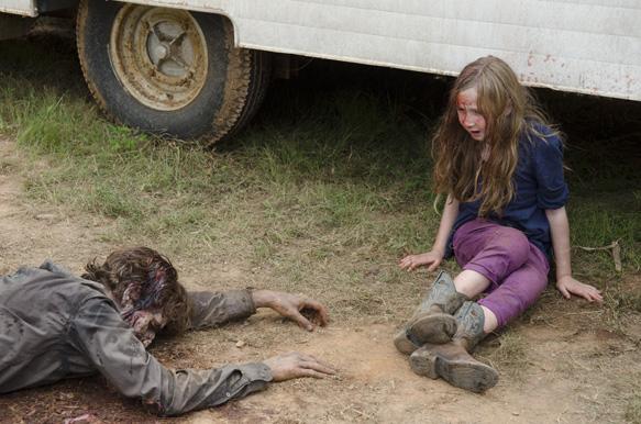 Meghan (Meyrick Murphy) and Walker - The Walking Dead _ Season 4, Episode 7 - Photo Credit: Gene Page/AMC