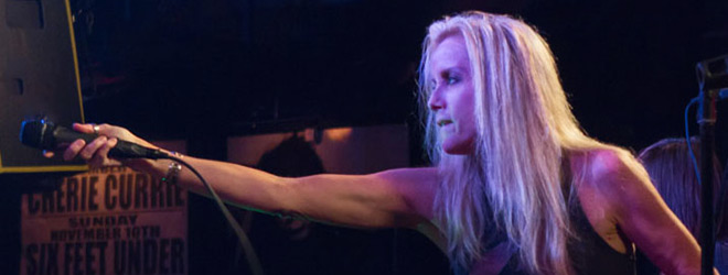 currie live slide - Cherie Currie Rocks Revolution Amityville, NY 11-8-13