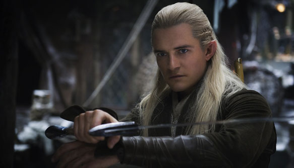 Legolas (played by Orlando Bloom) The Hobbit: The Desolation of Smaug