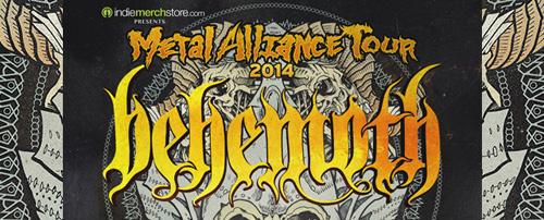 behemoth slide - BEHEMOTH to headline Metal Alliance Tour 2014 with 1349, Goatwhore, Inquisition, Black Crown Initiate