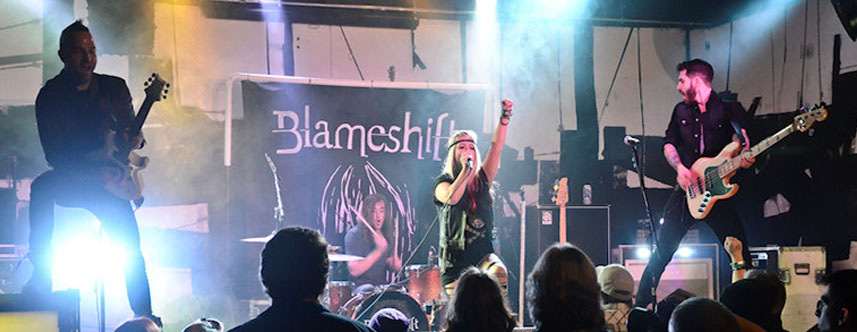 blameshift slide - Blameshift tells all their secrets to The Rock Shop in Fayeteville, NC 2-8-14 (Exclusive coverage)