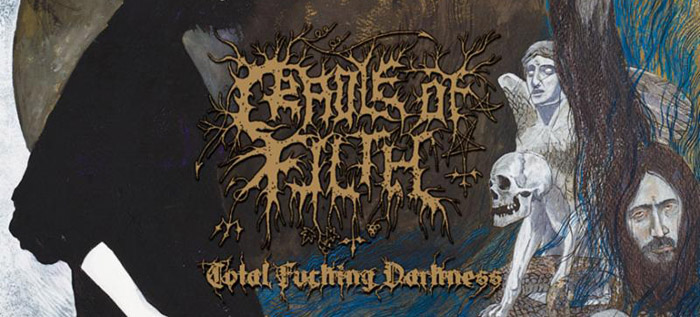 cof total slide - CRADLE OF FILTH To Release Total Fucking Darkness Demo On Vinyl This Spring Via Mordgrimm; Preorders Now Available
