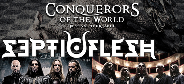 """septic slide - Septicflesh Unveil New Track and dates for """"Conquerors Of The World"""" North American Tour"""