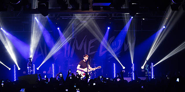 """all time low slide edited 1 - All Time Low, Man Overboard, and Handguns Sellout Starland Ballroom on """"A Love Like Tour"""" 5-2-14"""