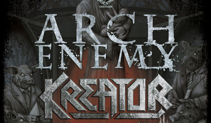 arch enemy tour poster1 - Arch Enemy & Kreator team up for North American Tour
