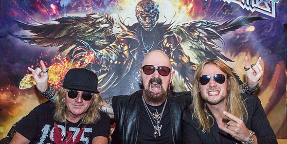 "priest slide - Judas Priest celebrate ""Redeemer of Souls"" in NYC 7-8-14"