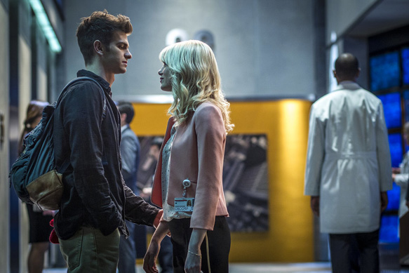 Andrew Garfield as Peter Parker and Emma Stone as in The Amazing Spider-man 2