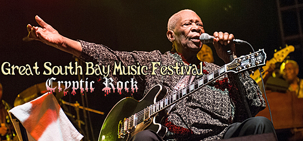 bb king slide - B.B. King leads stars at Great South Bay Music Festival Patchogue, NY 7-20-14