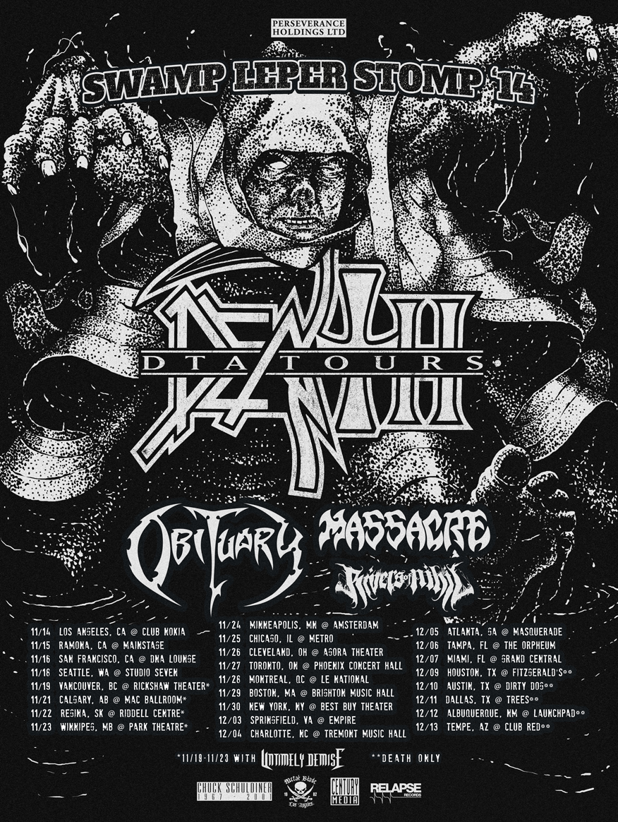 death tour - Death (DTA Tours) Announce North American Tour with Obituary, Massacre, & Rivers of Nihil