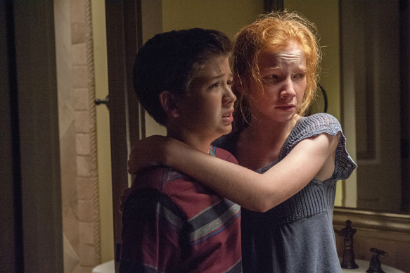 Garrett Ryan (left) and Annalise Basso (right) star in Relativity Media's OCULUS.  Photo Credit: John Estes ©2013 Lasser Productions, LLC. All Rights Reserved.
