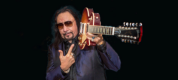 "ace slide - Ace Frehley ""Space Invader"" listening party Gibson Showroom, NYC 8-13-14"