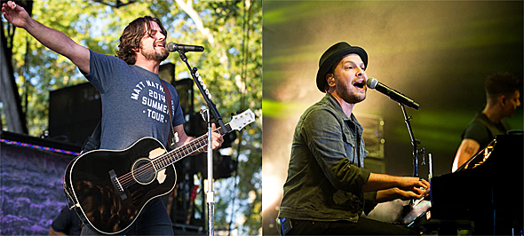 gavin slide - Gavin DeGraw & Matt Nathanson light up Central Park Summer Stage, NYC 8-13-14