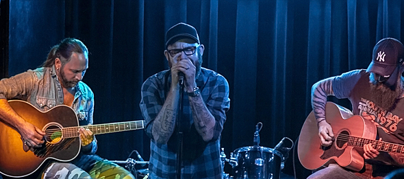 in flames slide - In Flames celebrate Siren Charms acoustically The Bowery Electric, NYC 9-4-14