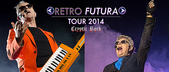 retro futura tour slide 3 - Retro Futura Tour 2014 electrifies Pennysaver Amphitheater Farmingville, NY 8-23-14