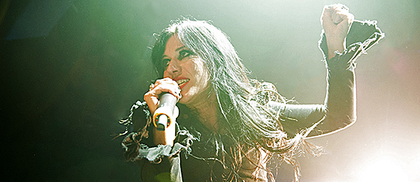 lacuna coil slide - Lacuna Coil electric in return to NYC 10-12-14 w/ Starset & Devil You Know
