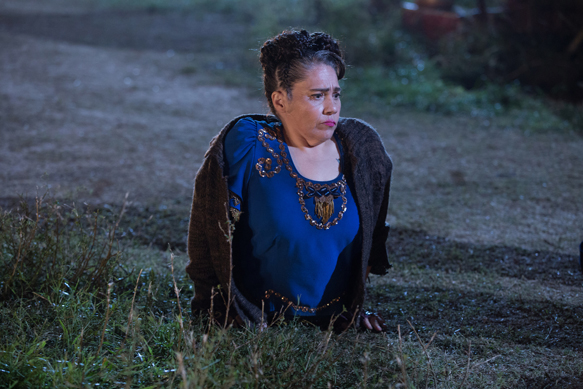 "AMERICAN HORROR STORY: FREAK SHOW ""Tupperware Party Massacre""- Episode 409 (Airs Wednesday, December 10, 10:00 PM e/p) --Pictured: Rose Siggins as Legless Suzi. CR: Sam Lothridge/FX"