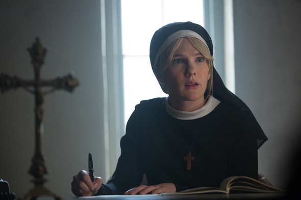 """AMERICAN HORROR STORY: FREAK SHOW """"Orphans""""- Episode 410 (Airs Wednesday, December 17, 10:00 PM e/p) --Pictured: Lily Rabe as Sister Mary Eunice. CR: Michele K. Short/FX"""
