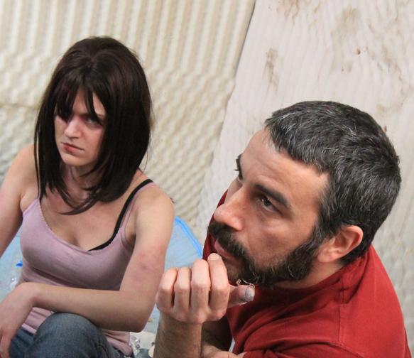 "Kelly Rae LeGault (left) with FX creator Daniel ""Maz"" Mazikowski (right)"