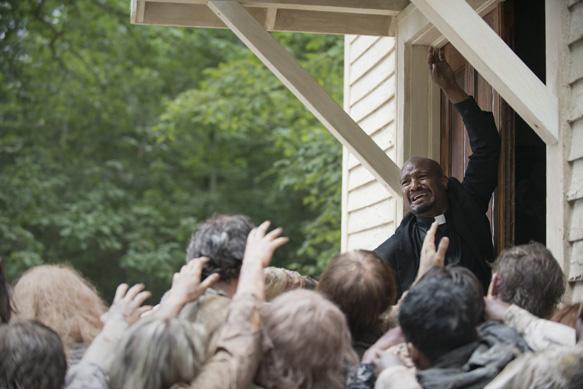 Seth Gilliam as Father Gabriel - The Walking Dead _ Season 5, Episode 8 - Photo Credit: Gene Page/AMC