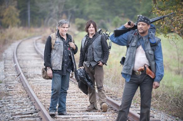 Jeff Kober, Daryl Dixon (Norman Reedus) and Davi Jay - The Walking Dead _ Season 4, Episode 15 - Photo Credit: Gene Page/AMC
