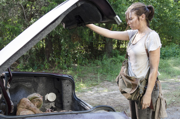 Lauren Cohan as Maggie Greene - The Walking Dead _ Season 5, Episode 10 - Photo Credit: Gene Page/AMC