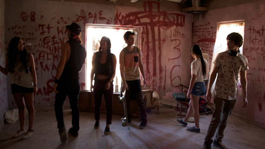 Still from Raised by Wolves