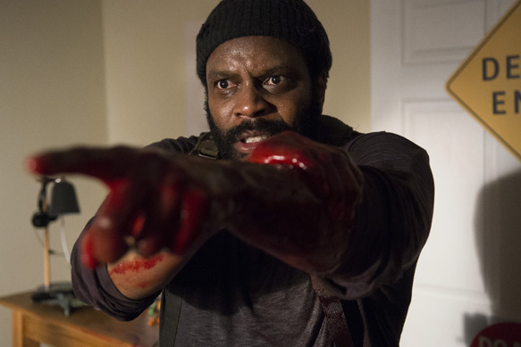 Chad Coleman as Tyreese - The Walking Dead _ Season 5, Episode 9 - Photo Credit: Gene Page/AMC