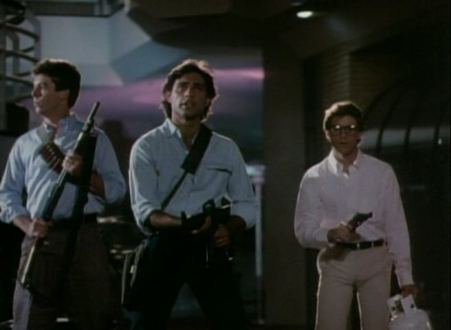 Still from Chopping Mall