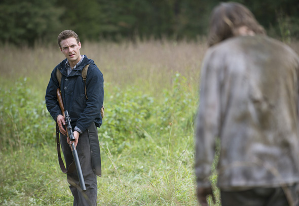 Ross Marquand as Aaron - The Walking Dead _ Season 5, Episode 13 - Photo Credit: Gene Page/AMC