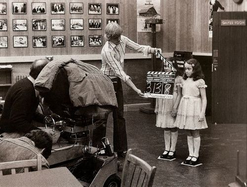 Behind the scenes of The Shining still