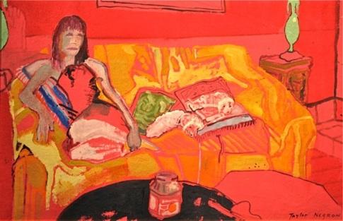 Taylor Negron's Les Deux Chiens Rose