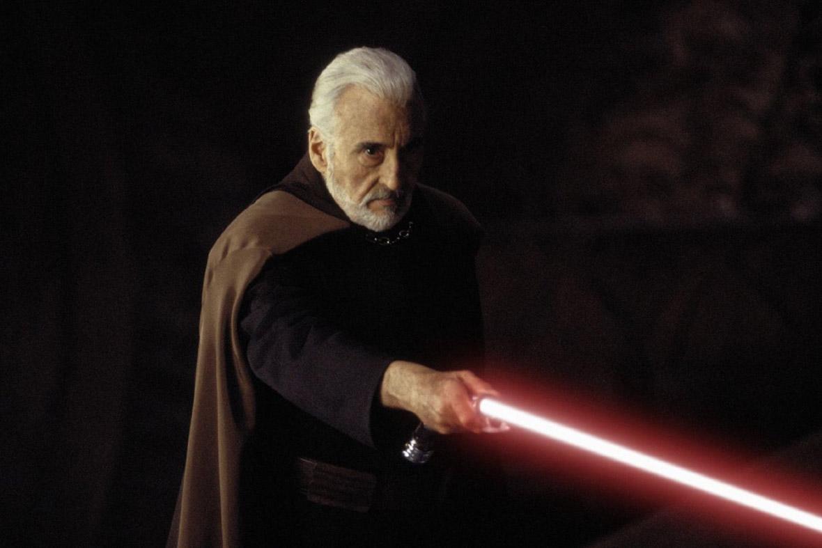 Christopher Lee as Count Dooku / Darth Tyranus in Star Wars: Episode II - Attack of the Clones