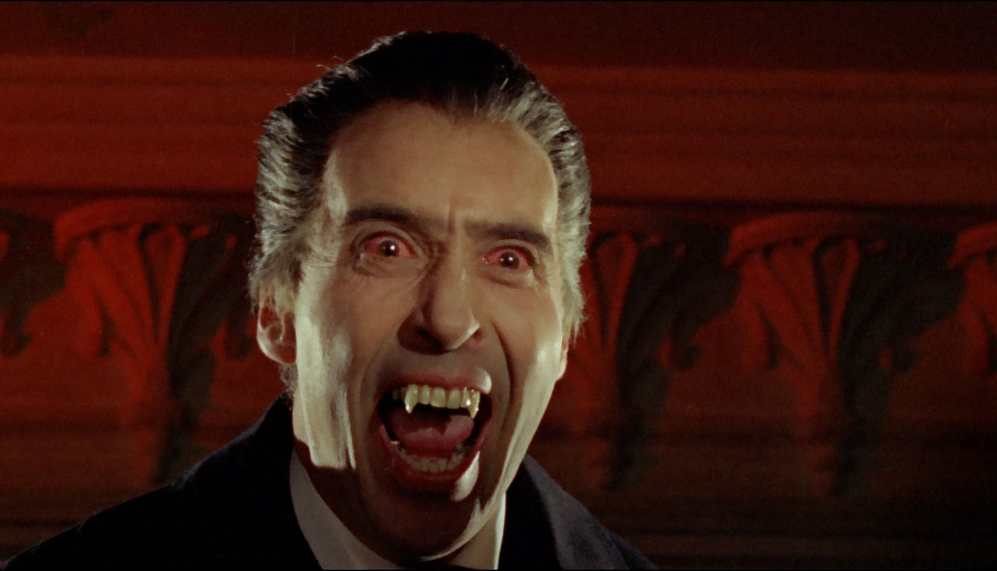 Christopher Lee as Dracula in Dracula: Prince of Darkness