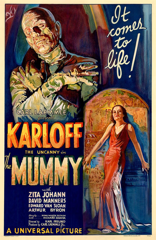 800px The Mummy 1932 film poster - Interview - Sara Karloff - Reflections on Boris Karloff