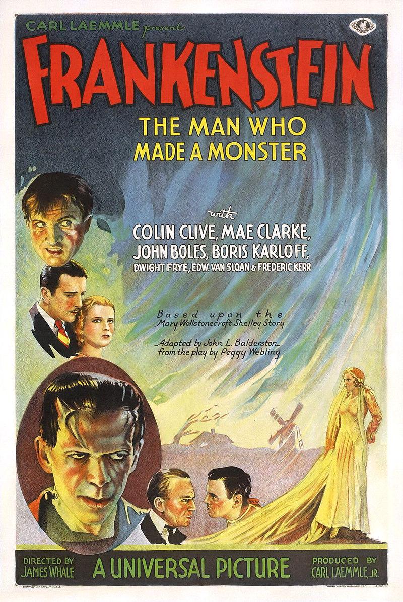 Frankenstein poster 1931 - Interview - Sara Karloff - Reflections on Boris Karloff