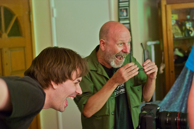 THIS MEANS WAR segement directors Andrew Kasch and John Skipp enjoy their scary work a bit too much