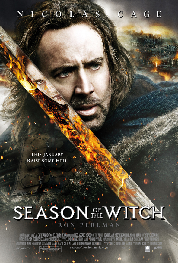 Season of the Witch Nicolas Cage Poster - This Week in Horror History - Season of the Witch (2011)