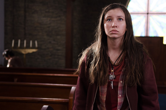 Katelyn Nacon as Enid - The Walking Dead _ Season 6, Episode 9 - Photo Credit: Gene Page/AMC