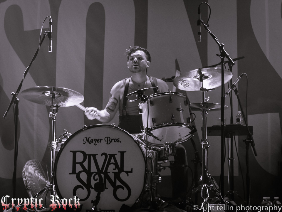 Michael Miley of Rival Sons performing at Gramercy Theater NYC 6-25-14