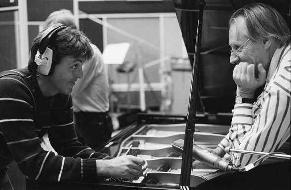 Paul McCartney and George Martin