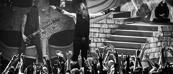 amon april 2016 slide - Amon Amarth Conquer NYC 4-22-16 w/ Entombed A.D. & Exmortus