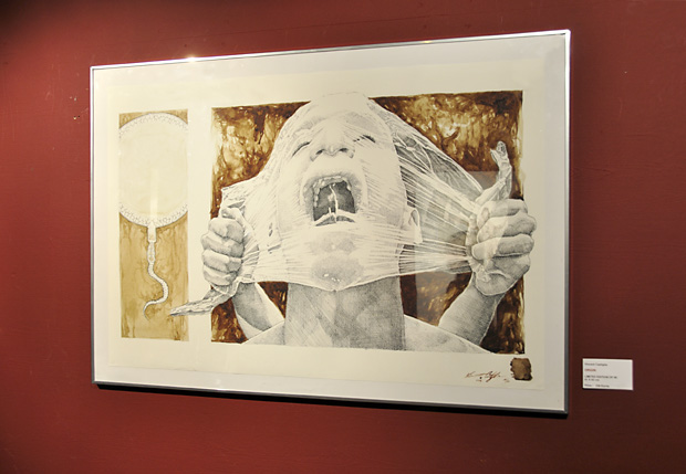 Vincent Castiglia's art on display at HR Giger's Museum in Switzerland