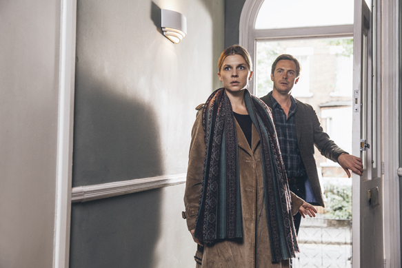 Clemence Poesy and Stephen Campbell Moore in THE ONES BELOW, a Magnolia Pictures release. Photo courtesy of Magnolia Pictures.